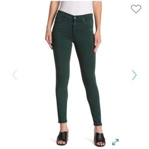 AG Jeans | The Farrah High Waist Skinny - Green